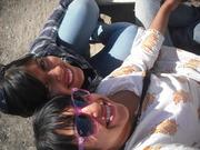 Karlita y yo en la excavación