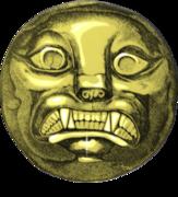 disco de oro de la tumba del señor de sipán, cultura moche.JPG