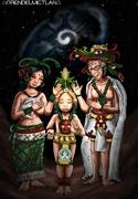La sagrada familia maya