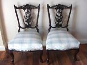 Decorative pair of chairs