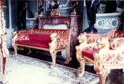 Lion's head Gilt sofa