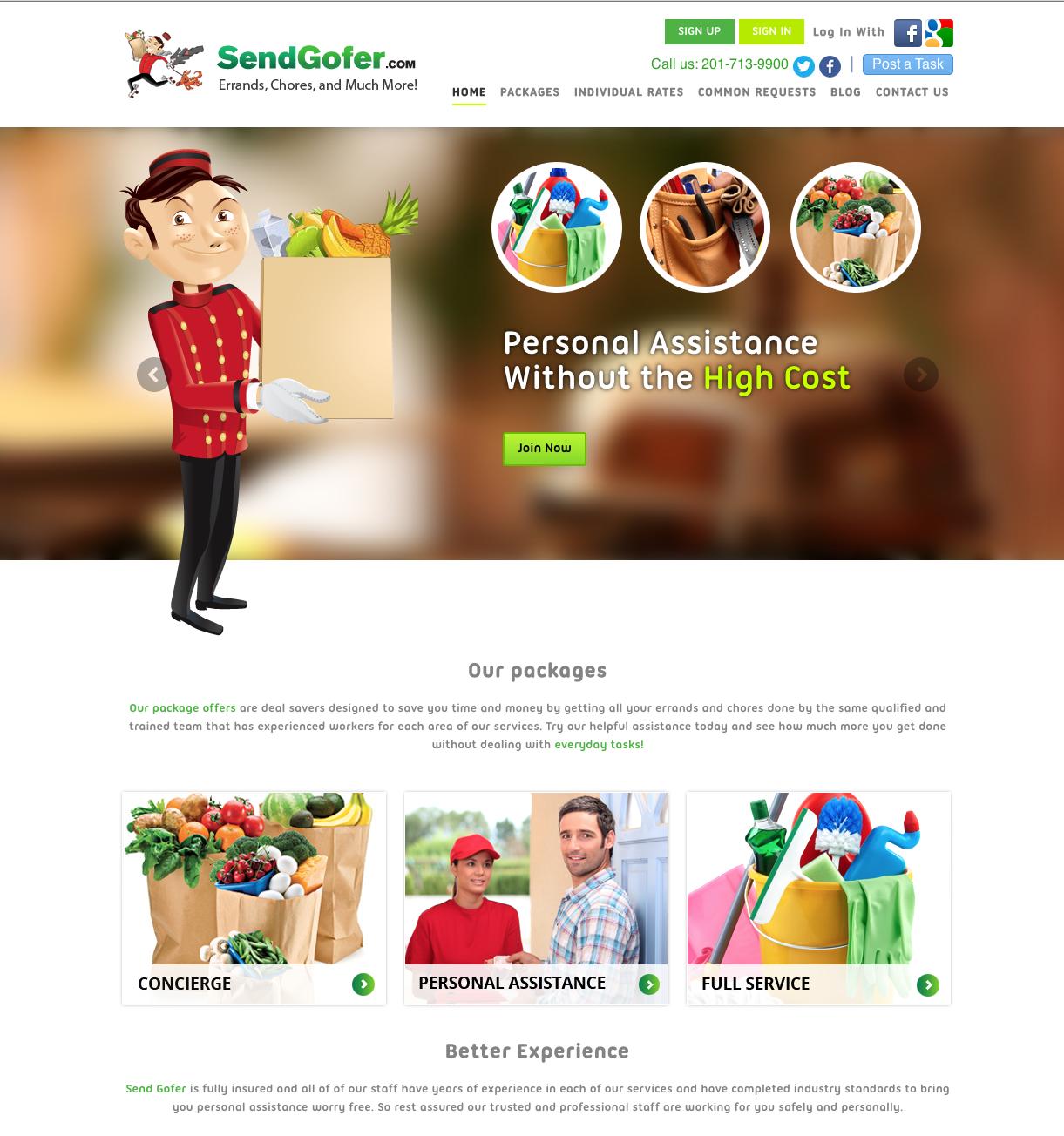 Send Gofer's Home Page