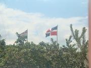 Dominican and Haiti Flag