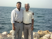 My dad in bahrain