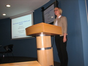 Johanna Kuhn from BioMed Central addresses UP researchers