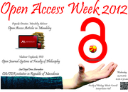 Open Access Week 2012 event #1 in Republic of Macedonia
