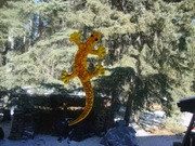 4.24 SALAMANDER -Crystalized - Art Form, Glass-Tailed Lizard copy