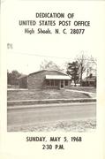 Dedication of U.S. Post Office Program 1968