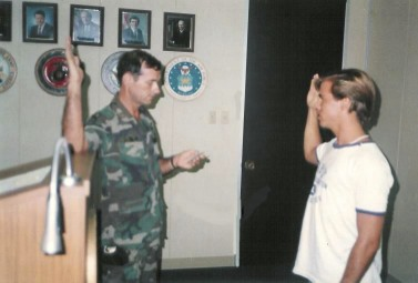 Sworn in to the U.S.Army