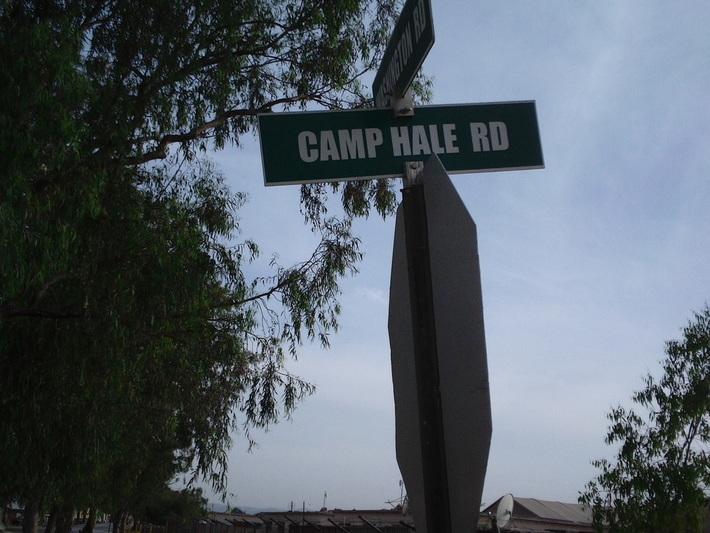 Camp Hale Rd in Salerno, Afghanistan