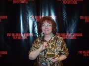 Me, winning Best Screenplay at the Oklahoma Horror Film Festival