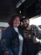 Kari Grant with fellow comic Matt Raney