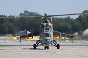 Mi-24 Hind head on taxi