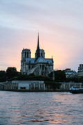 Sunset Behind the Notre-Dam