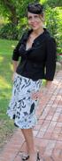 A black and white linen bias dress