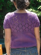 back view of knit summer sweater
