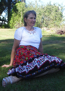 mum in my mothers day challenge skirt