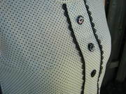Dot Sorbetto & Refashioned Linen Skirt