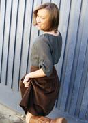 Annie get your gun! - cord skirt back