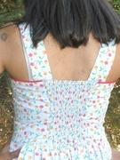 """""""Blue Garden"""" Cherry print sundress"""