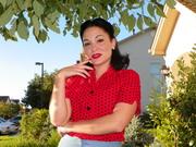 Polka dot blouse3