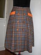Orange plaids skirt