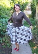 Plaid Circle Skirt - Fullness Detail