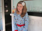 Emily [Judy's Grandaughter] in Wizard of Oz Dress for Christmas
