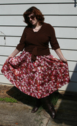 Twirly Skirt and Wrap Blouse