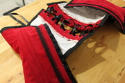 Red Corduroy Corset, Close Up