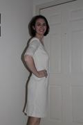 UFO #3 Cream Sheath Dress