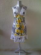 Halter neck patchwork dress 2