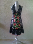 Halter neck patchwork dress 1