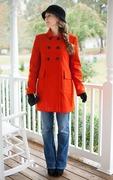 A Stroll in Autumn orange coat