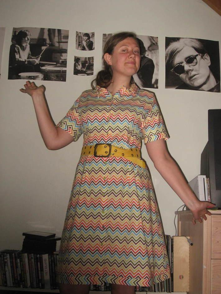 The chevron spring dress