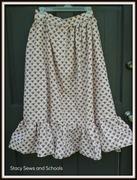 Fleur de Lis Maxi Skirt