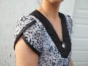 My Modern Leather and Chiffon Tunic Dress