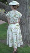 1940 Floral Bed Sheet Swing Dress - back