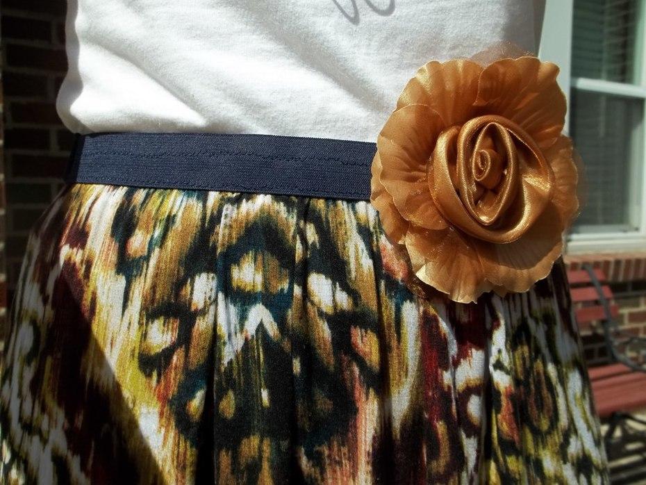Easy Drop-Hem Knit Skirt