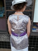 Early 20'sSatin Tunic and Belt - back view