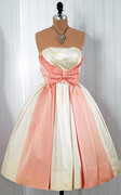 Vintage pink bow bridal dress