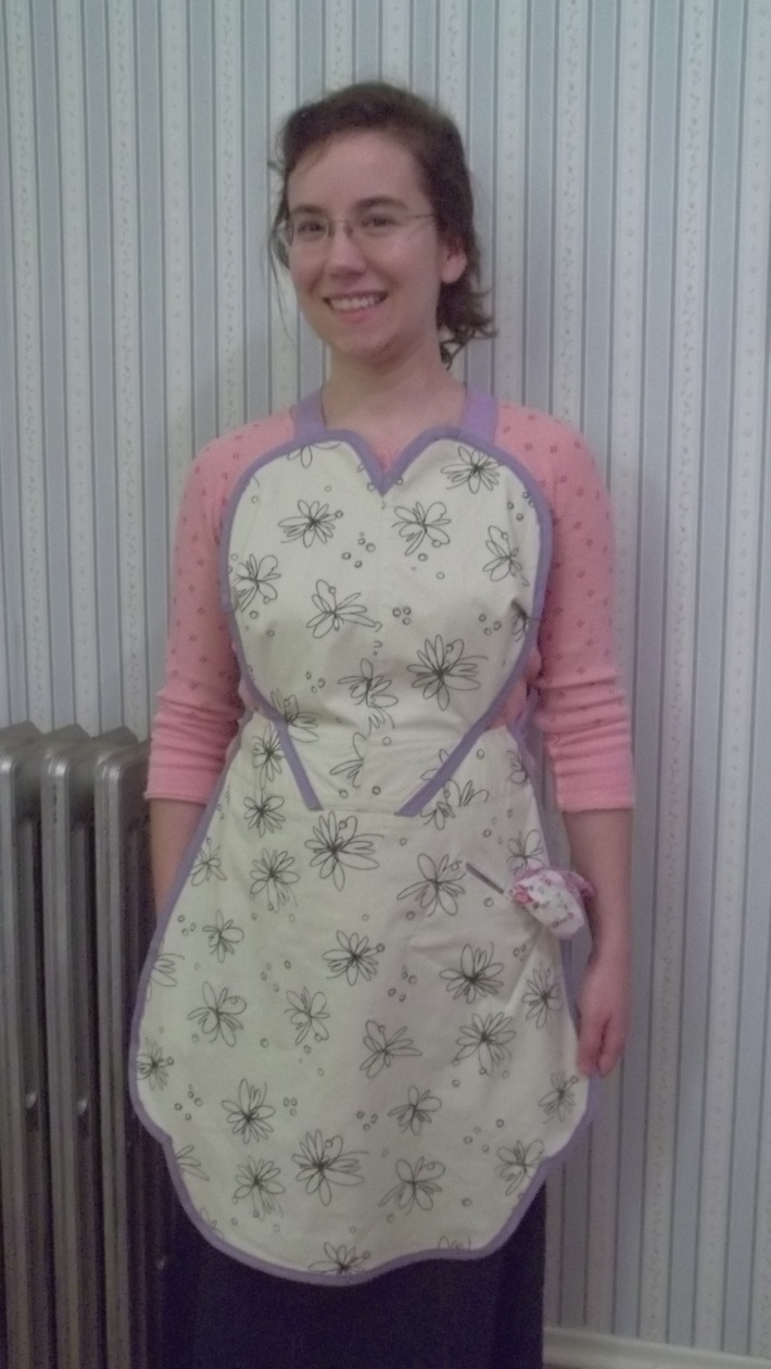 Heart Apron-A Refashioned UFO