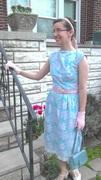 Border Print 50's Dress