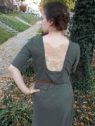Olive Knit Lace-Back Dress