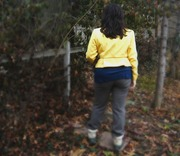 yellow jacket back blur