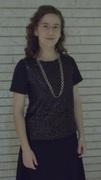 Black Seqin Re-fashioned T-shirt
