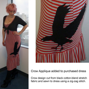 Crow Applique