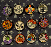Halloween Pendant Collection by Tiffany Trocki