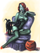 Zombie Girl pin-Up