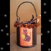 Retro Kitty Trick or Treat Bucket